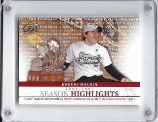 Malkin Evgeni Upper Deck 2009-10 Season Highlights č.SH6