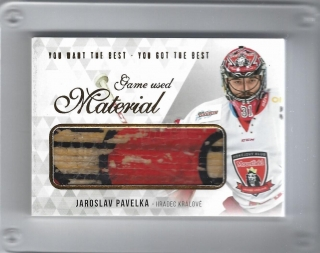 Pavelka Jaroslav OFS You Want the Best 2018 Game Used Material /21 č.M-PA